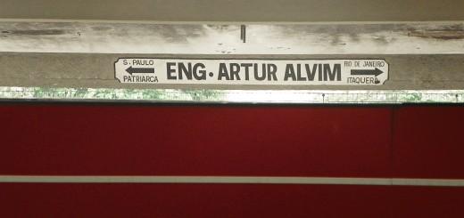 Placa antiga da Estação Artur Alvim