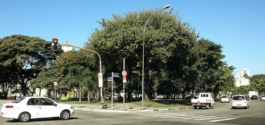 A Praça Jácomo Zanella, em 2013.