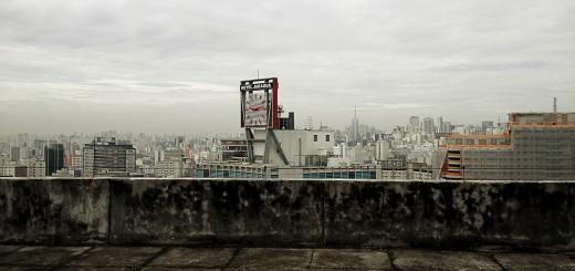 """""""Skyline"""" de São Paulo, visto do topo do Conjunto Zarvos"""